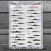 Anden VERDENSKRIG skib anerkendelse plakat