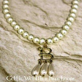 Perle halskæde Anne Boleyn