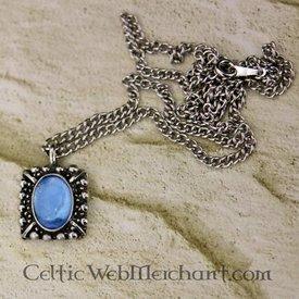 Collana Tudor Elisabeth, gemma blu, argento