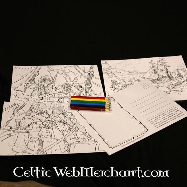 Set kleurkaarten Piraten