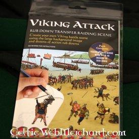 Frote hacia abajo el ataque vikingo panorama
