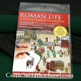 Frote hacia abajo panorama foro romano