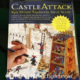Rub down panorama średniowiecznego oblężenie