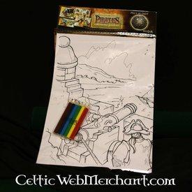 Farve - og aktivitet sæt Pirat