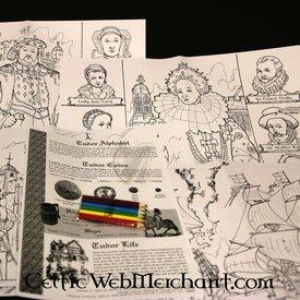 Conjunto de colores y actividad Tudor