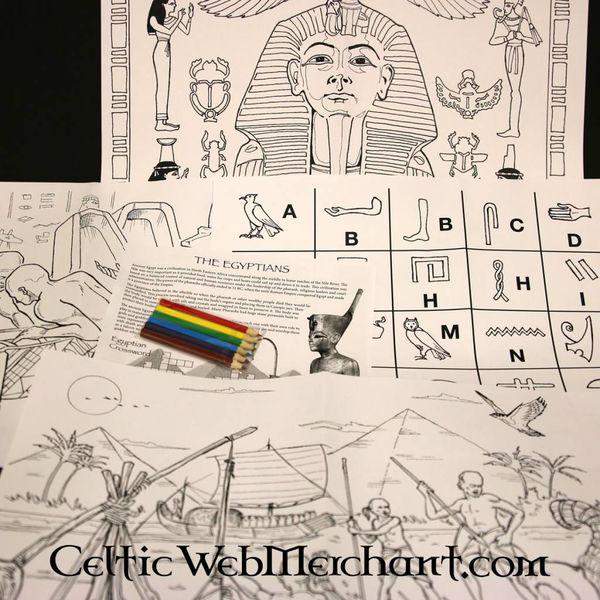 Kleur- en spelset Oude Egypte