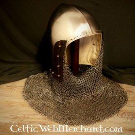 Ulfberth 14 bacinet siècle avec anneaux plats Aventail rondes rivets