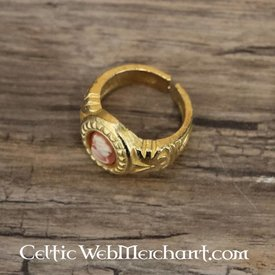 Cameo ring, gilded