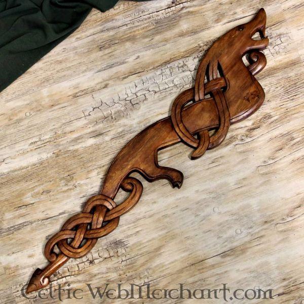 Vikingo de madera del dragón (mirando a la derecha)