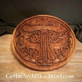 Yggdrasil di legno con cervi