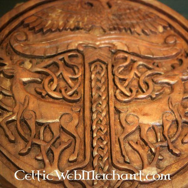 Yggdrasil avec des cerfs, en bois