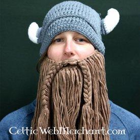 Strikket i Viking cap med skæg L