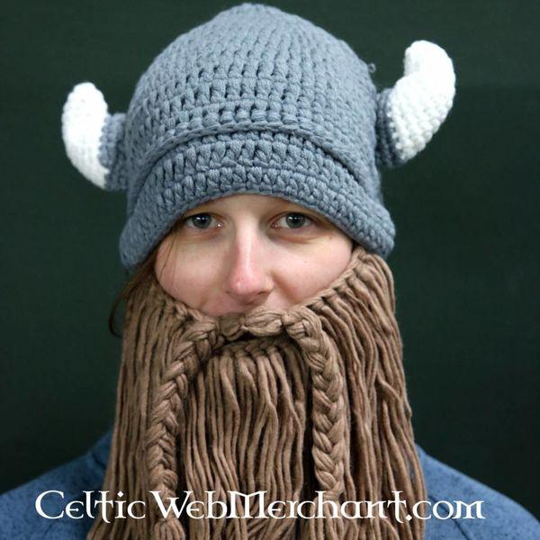 sombrero de punto con barba de vikingo L - CelticWebMerchant.com