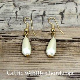 Pendientes de perlas romanas