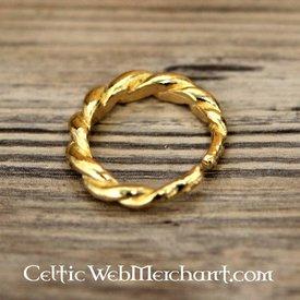 Anello svedese Viking, placcato in oro
