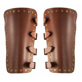 Leather vambraces Marius, brown