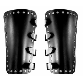 Leather vambraces Marius, black