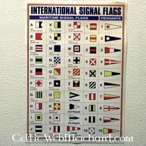 Poster Internationale signaalvlaggen