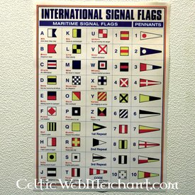 Poster International signal flags
