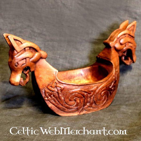 Bol Viking avec têtes de dragon