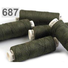 Linnegarn mørkegrøn 50m
