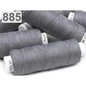 Hilo de lino gris oscuro 50m