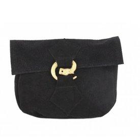 Taske med ulv spænde, sort