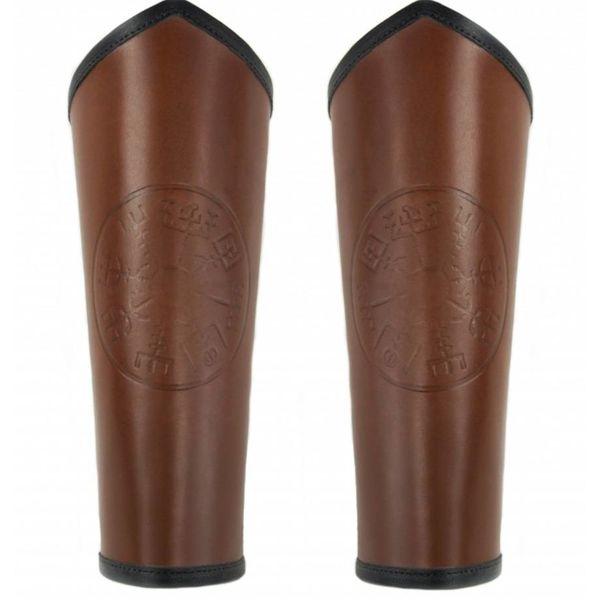 Vambraces Vegvisir, brun