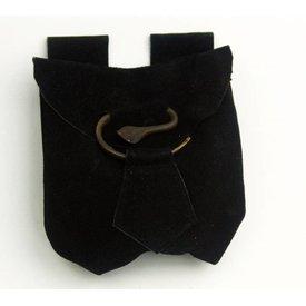 Ceinture sac en spirale, noir