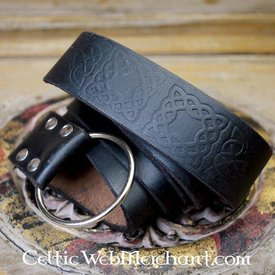 Ringebælte med keltisk knude, sort