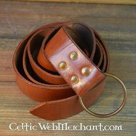 Ringebælte, 150 cm, brun