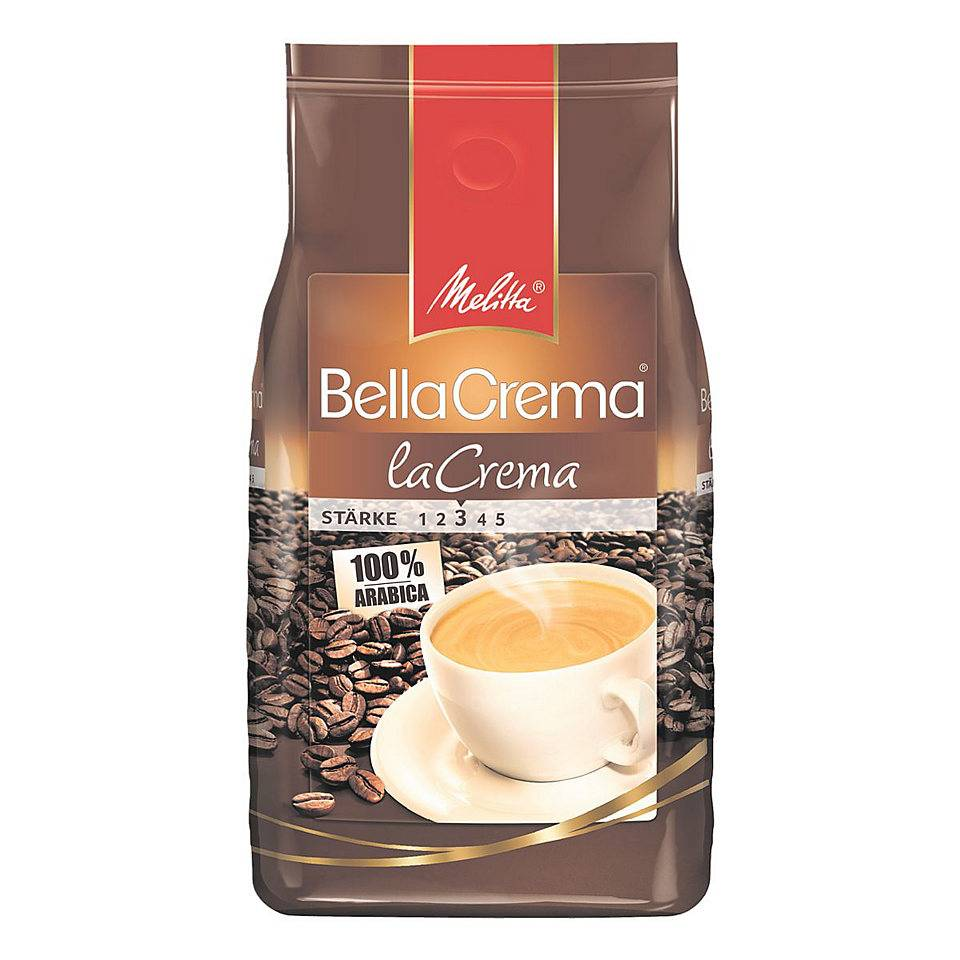 Melitta Bellacrema la crema bonen 1 kg. vanaf € 7.95