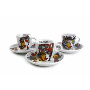 Josien Broeren Espresso kop 65 ml met schotel set van 6