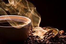 Het aroma van koffie