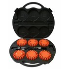 SUITCASE WITH 6 ORANGE ROTOR LIGHTS - LED (rechargeable)
