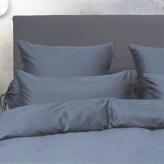 HnL HnL | Satin-Bettwäsche |  Puntini, blue-steel | 135/200, 80/80 cm