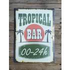 Metalen wandbord Tropical Bar