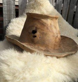 Teak houten Cowboyhoed