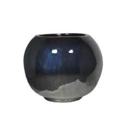 Plantenbak Globe 50 metaal glans