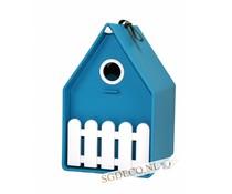 Landhaus vogelhuis turquoise blauw