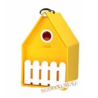 Landhaus vogelhuis geel