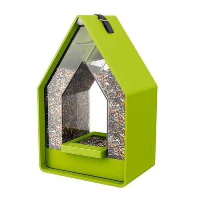 Landhaus vogel voederdispencer lime groen