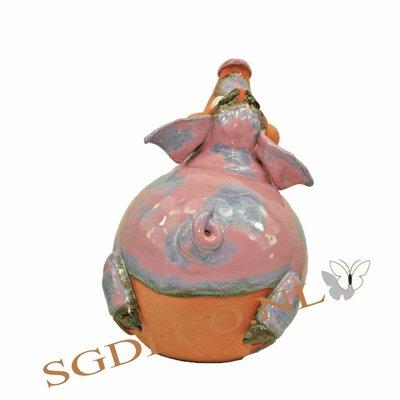 Decoratieve tuinbol liggend Varken (1)