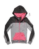 HoodieBuddie Kaputzenjacke Flex mit Mikofon - grau/pink