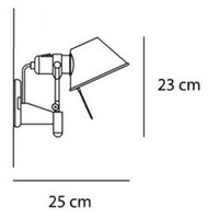 Wandlamp Tolomeo Faretto Halogeen