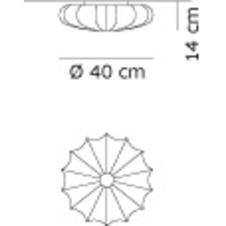 Wand-/plafondlamp Muse Ø 40 cm