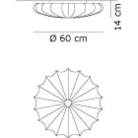 Wand-/plafondlamp Muse Ø 60 cm