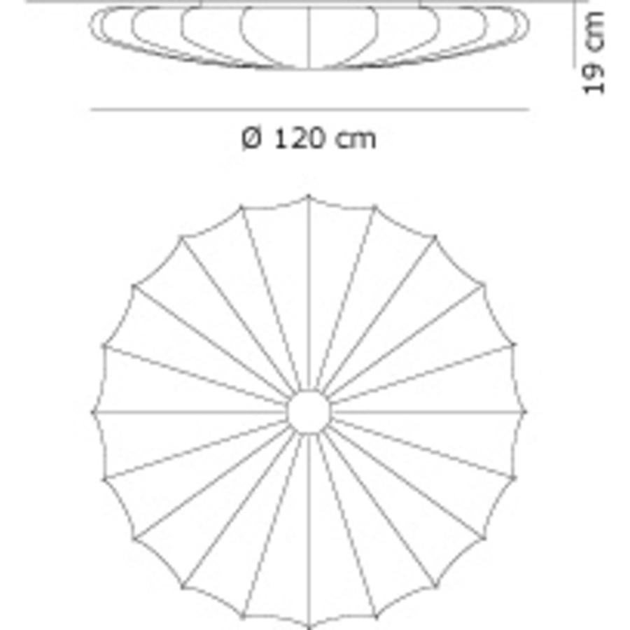 Wand-/plafondlamp Muse Ø 120 cm