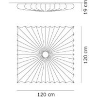 Plafondlamp Muse 120 Q