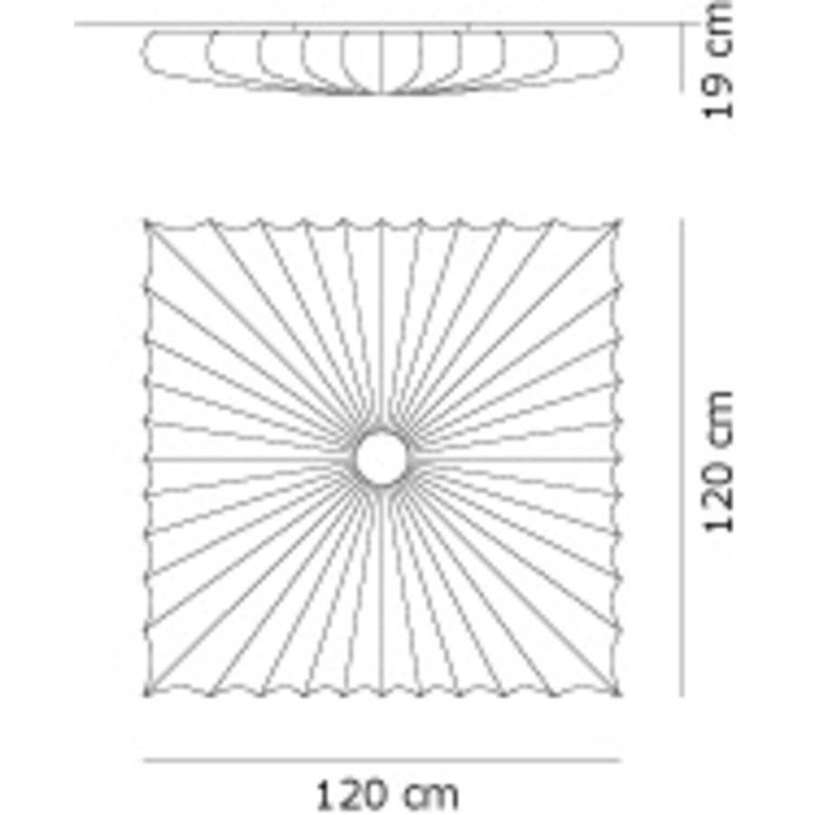 Wand-/plafondlamp Muse 120 Q
